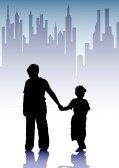 12864365-vector-drawing-silhouette-childrens-in-city