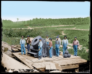 The-Civil-War-in-Color-heavy-artillery-color