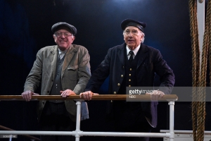 """SATURDAY NIGHT LIVE -- """"Larry David"""" Episode 1695 -- Pictured: (l-r) Senator Bernie Sanders and Larry David during the """"Steam Ship"""" sketch on February 6, 2016 -- (Photo by: Dana Edelson/NBC/NBCU Photo Bank)"""